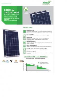 320 W 112V Solar panels