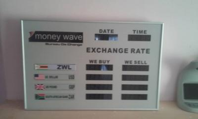 Foreign Exchange display board