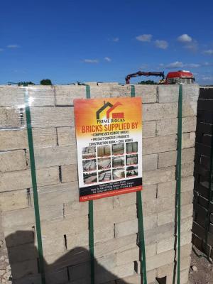 Compressed cement bricks