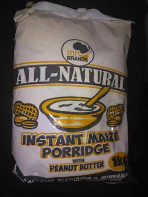 Instant maize porridge with peanut butter