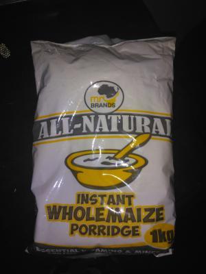 Instant whole maize porridge