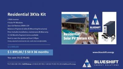 Residential 3KVa Kit