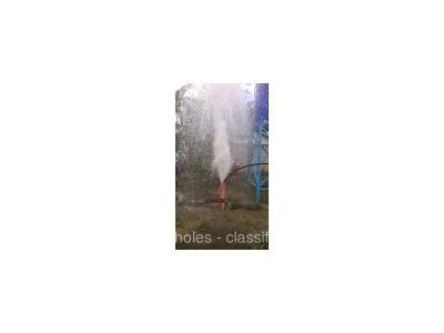 Flushing / cleanout of existing boreholes and (recasing if necessary)