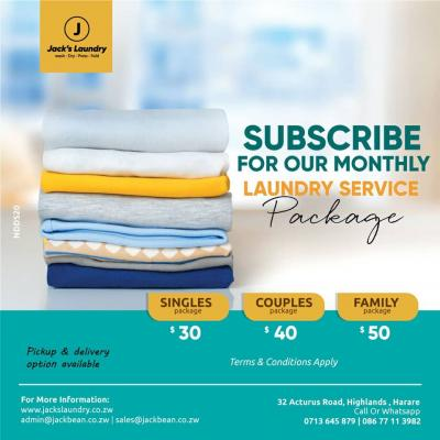 Laundry service packages