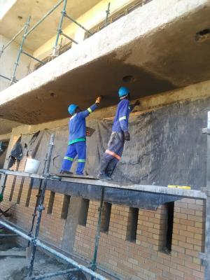 Building plastering
